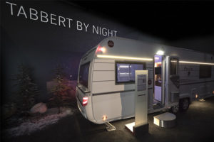 TABBERT Wohnwagen, Caravaning-Messe, CSD, Caravan Salon Düsseldorf TABBERT by Night