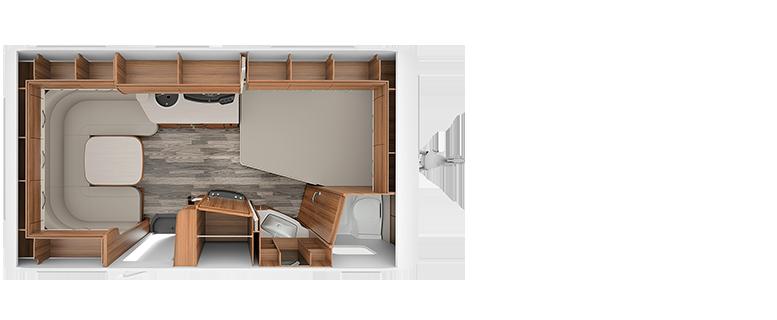 Kleine TABBERT Wohnwagen unter sieben Metern