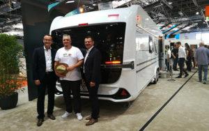 Rolf Schmidt, Michael Maurer und Armin Mäder auf dem Caravan Salon 2019