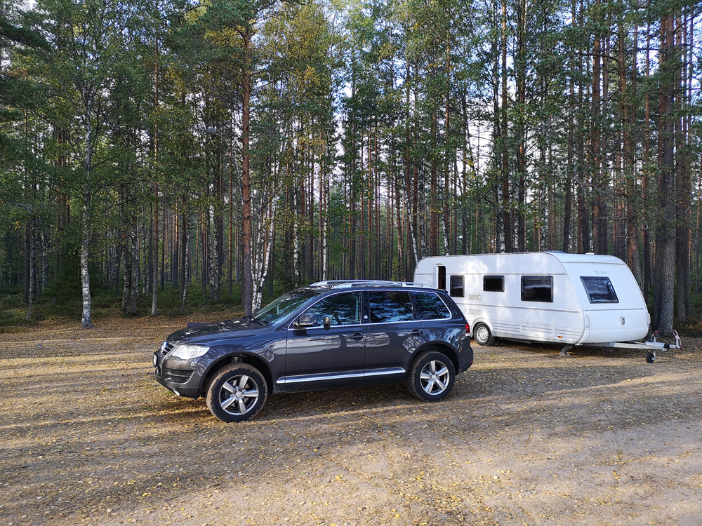 TABBERT Wohnwagen und Ato auf dem Campingplatz